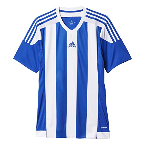 Adidas Striped 15 Camiseta de Manga Corta, Hombre, Bold Blue/White, XL