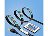 LMKIJN Zuhause TV LED Hintergrundbeleuchtung Streifen Beleuchtung Flexible USB LED Streifenbeleuchtung für Flachbild-TV LCD-Desktop-Monitore und Küchenschränke mit Fernbedienung für Schlafzimmer