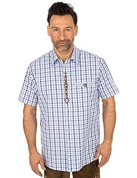 orbis Textil Trachtenhalbarmhemd Hellblau