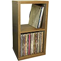 WATSONS CUBE - 2 Cubby Square Display Shelves/Vinyl LP Record Storage - Oak