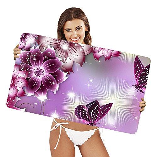 Preisvergleich Produktbild XtremePads [ Große XXL Gaming-Maus-Pad / Mat Schreibtischunterlage ] - ( Artistic Butterfly Flower Purple )