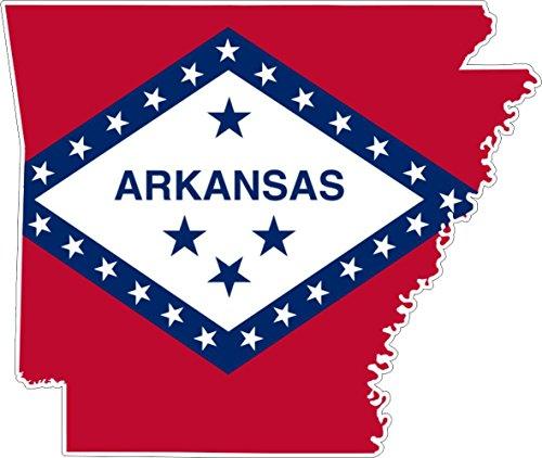 Akachafactory Selbstklebend Wandtattoo Sticker, Auto Vinyl Flagge Karte Arkansas USA-Side -