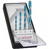 Bosch 2 607 010 521 - Juego de 4 brocas multiuso Robust Line CYL-9 multi construction, 4; 5; 6; 8 mm