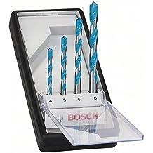 Bosch Profesional - Set Robustline de 4 brocas multimaterial CYL-9 MultiConstruction (Ø 4/5/6/8 mm)