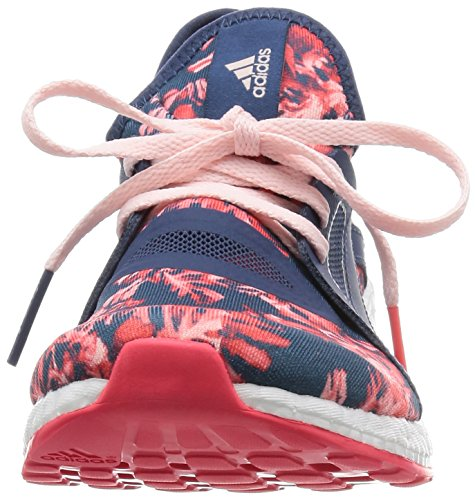 adidas Pureboost X, Chaussures de Running Entrainement Femme, Violet Bleu / rouge / rose / blanc (bleu minéral / bleu minéral / rose halo)