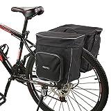 Roswheel Fahrradtasche Fahrrad Satteltasche Gepäcktasche Gepäckträger Tasche Rucksack Seitentasche 30L Schultertaschen Reflektierender