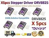 5pcs Stepstick DRV8825 Stepper Motor Driver Reprap RAMPS replace A4988 | 5 stücke DRV8825 5-schicht stepper motor controller modul mit mini kühlkörper für 3D drucker