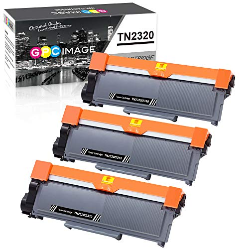 GPC Image TN2320 TN-2320 Cartucce Toner Compatibile per TN-2310 per Brother MFC-L2700DW MFC-L2720DW MFC-L2740DW DCP-L2500D DCP-L2520DW DCP-L2540DN HL-L2300D HL-L2340DW HL-L2360DN HL-L2365DW(3 Nero)