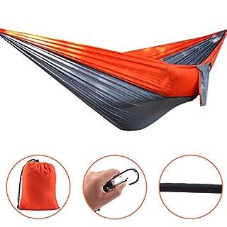 AIICIOO Ultra-Light Travel Camping Hammock Durable Parachute Nylon with 200kg Load Capacity Portable Camping Hammock with Outstanding Resistant - Garden Backyard Beach Hiking Travel (270cm x 140cm)