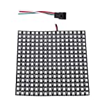 BTF-LIGHTING 0.48ft0.48ft Pixel 256 Pixels WS2812B Digital Flexible LED Panel Individually addressable Full Dream Color DC5V