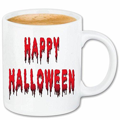 Reifen-Markt Kaffeetasse Happy Halloween - KÜRBIS - Gespenster - SÜßES ODER SAURES - Oktober Keramik 330 ml in ()