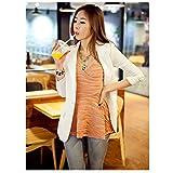 New Fashion Style Casual evtech donne a maniche lunghe-Thin da drappo lungo Wraps magrotta Outwear carminda Coat, bianco, L