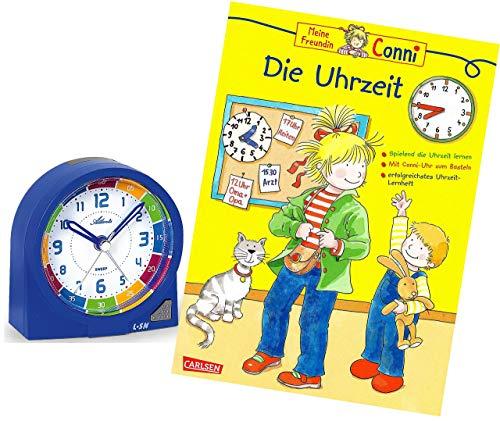 Ohne Ticken Jungen Blau mit Lernbuch Conni Buch Uhrzeit Lernen - 1937-5 BU ()