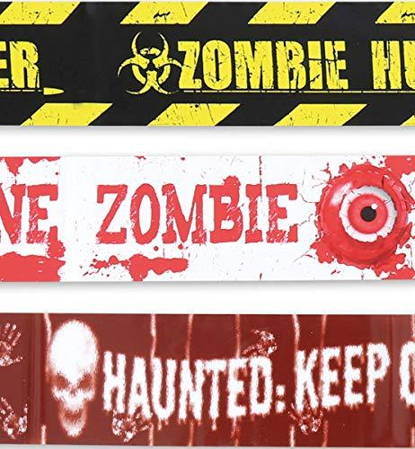 Unbekannt Halloween Party Deko Zubehör Horror Zombie Absperrband 3 Stück 3,6m