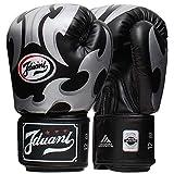 Guantoni da boxe Junior Kids & Adult Taglie Muay Thai Training in pelle Sparring Punching Bag, nero, 10oz
