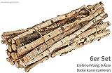 matches21 - Rami Decorativi in Betulla, Rami di Betulla, Rami di Betulla, Materiale Naturale, Set da 6 Pezzi, Lunghezza 50 cm, Ø ca. 1-2,5 cm