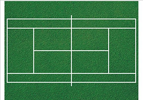 novelty-tennis-court-print-a4-patterned-edible-icing-sheet-wimbledon-1-x-a4-premium-easy-peel-icing-