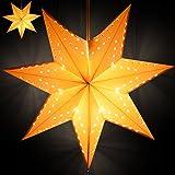 2x Weichnachtsstern Adventsstern Beleuchtung Leuchtstern Sternlampe aufhängbar
