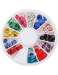 Lalang Fimo 3D art d'ongle Sticker Manucure Nail Art Decor Accessories (Smiley)