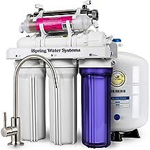 iSpring 75GPD RCC7AK-UV - Sistema de filtrado de agua, ósmosis inversa de 7 fases con alcalinizador y esterilizador ultravioleta.