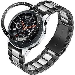 TRUMiRR Bracelets de Montre Galaxy 46mm / S3, Sangle à Fixation Rapide 22 mm en Acier Inoxydable Massif pour Montre de Galaxie Samsung Galaxy, Gear S3 Classic Frontier