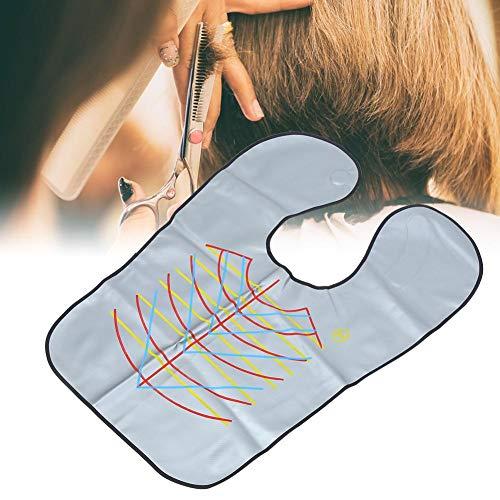 Barber Cape Unisex, professionelles wasserdichtes Haarschnitt Schürzentuch Zusatzwerkzeug für den Schönheitssalon für das kommerzielle Haushaltshaarschneiden(Silber) -