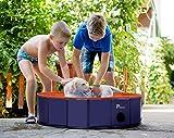 Pidsen Piscine Chien Baignoire Animaux de Compagnie Pataugeoire Pliable PVC Portable Douche Bassin Jeu pour Chien Chat Enfant Bébé Extérieur Intérieur Facile à Nettoyer