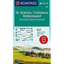 St. Blasien, Todtmoos, Hotzenwald, Naturpark Südschwarzwald: 3in1 Wanderkarte 1:25000 mit Aktiv Guide inklusive Karte zur offline Verwendung in der Langlaufen. (KOMPASS-Wanderkarten, Band 898)