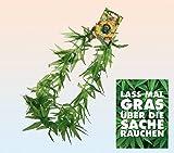 NV Karnevalskostüm - Aloha Kranz Cannabis & Postkarte Lass ma ... - Set ~