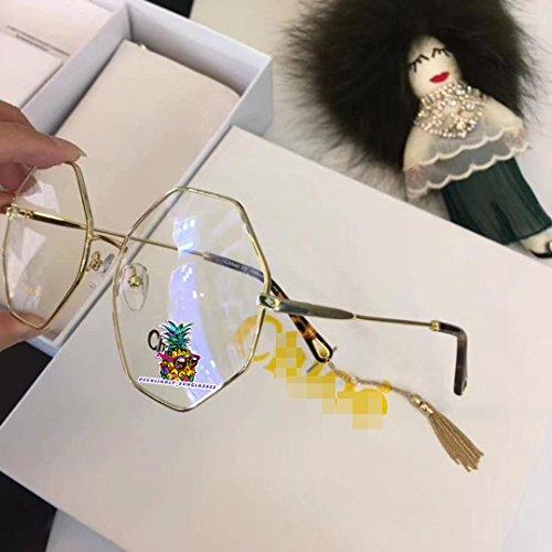 day spring online shop Octagon Gold Havana Metal Round Eyeglasses 55mm for CE 2134 Women's Eyeglasses-Brown Gold