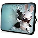 "Laptoptasche Notebooktasche 15"" - 15.6"" zoll Fall Neopren für Notebooks Dell HP Macbook Samsung Apple Toshiba*white rabbit*"