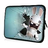 13-13.3 Zoll Tablet Hülle, laptoptasche - zoll Fall Neopren für Notebooks Dell HP Macbook Samsung Apple Toshiba (13 white rabbit)