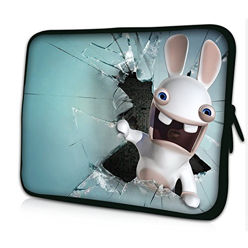 """Laptoptasche Notebooktasche 15"""" - 15.6"""" zoll Fall Neopren für Notebooks Dell HP Macbook Samsung Apple Toshiba*white rabbit*"""