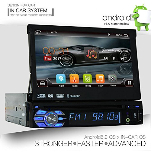 EinCar Quad-Core-Android 6.0 Single 1 Din 7