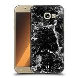Head Case Designs Schwarz Marmor Drucke Ruckseite Hülle für Samsung Galaxy A5 (2017)