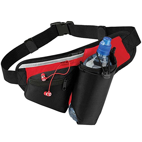 Quadra Teamwear Hydro Belt Bag Black/Classic Red