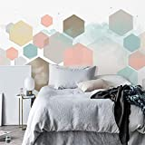 3D Non Woven Wallpaper Nordic Geometric Color Living Room Tv Background Wallpaper Simple Modern Wallpaper Wallpaper Sofa Bedroom Custom Mural, 430Cm*300Cm