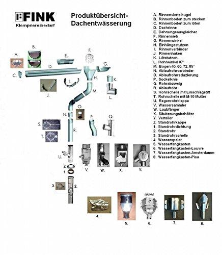 76-116 87-116 und 100-116//150 80-100//116 60-116 mm Standrohrkappe Titanzink in den Gr/ö/ßen 60-116