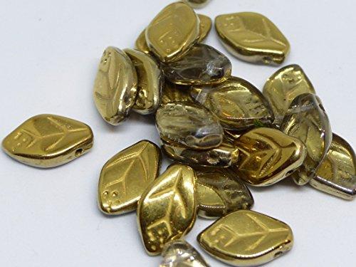 30(PCS) X 12(mm) Tschechische Glas Blatt Drop Beads–Kristall - Tschechische Kristall Gläser