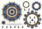 Suricati su Quad Bicicletta Mandala scheda di decoupage lama por Elaine Sheldrak