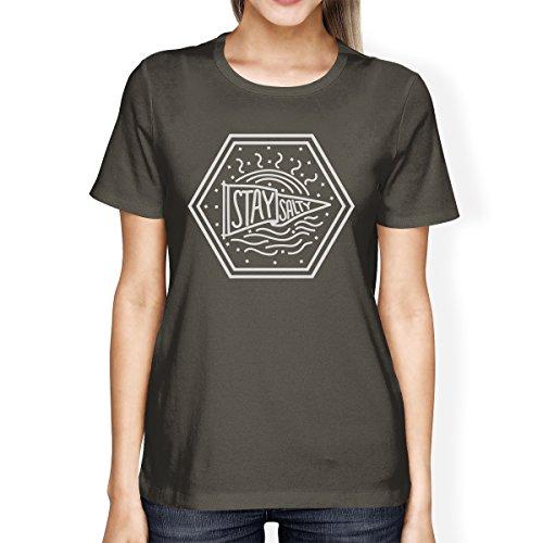 365 Printing - Top - Maniche corte  - Donna Stay Salty Womens Dark Grey Shirt