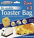 Reusable Toaster Bags 6 Pack, Over 600 Uses! Toastie Bags, Sandwich Bags, Toast Bags