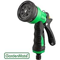 GardenMate® Doccetta Attacco Tubo da Giardino con 8 diversi tipi di getto