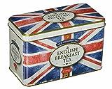 tè inglese, Unione Jack di stile retrò Caddy? tè English Breakfast in scatola metallo bandiera britannica stampato