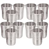 Floranso Stainless Steel Designer Glass 400 Ml, Set Of 12 Water Milk Tea Lassi Glass Tumbler