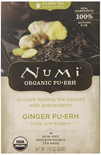 Numi Tea Pu-erh Tea Ginger, Ginger 16 bags