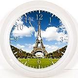 New Eiffelturm Wanduhr 25,4cm Nice Geschenk und Raum Wand Decor W03