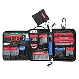 Airsson 99 Stück Erste Hilfe Kits Tasche Molle Emergency Compact Pouch-beinhaltet Notfall Decke, Augen Pad, CPR KIT SET und Patch und ein Karabiner und für Home School Office Car Caravan oder Reisen