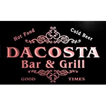 u10022-r DACOSTA Family Name Gift Bar & Grill Home Beer Neon Light Sign Enseigne Lumineuse