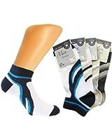 8 Paar Herren Sneaker Socken mit Muster mehrfarbig aus feinster Baumwolle Soft Cotton / Füßlinge